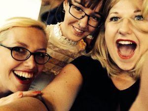 with Kat Muscat & Karen Pickering on the red carpet (pic c/o Karen Pickering)