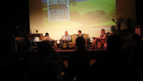 Short story session @ Bellingen Readers & Writers Fest 2012 with Marele Day, Robert Drewe and Charlotte Wood